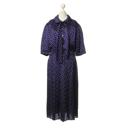 Chloé Violettfarbenes jurk met bloemen