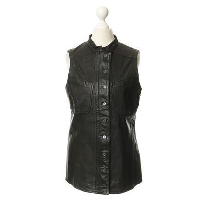 Derek Lam Dark brown leather vest