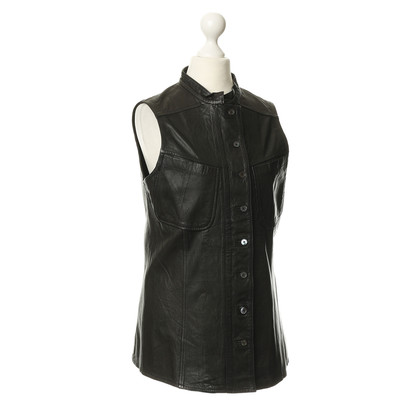 Derek Lam Gilet in pelle marrone scuro