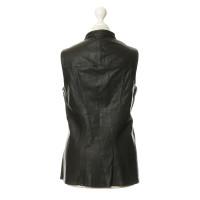 Derek Lam Dark brown leather vest