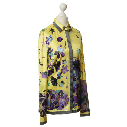 Gianni Versace Blouse zijde met patronen