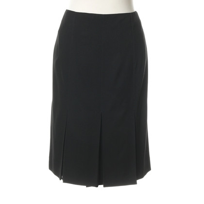 Hermès Black skirt with pleats