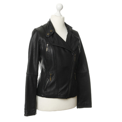 Michael Kors Leather jacket in black