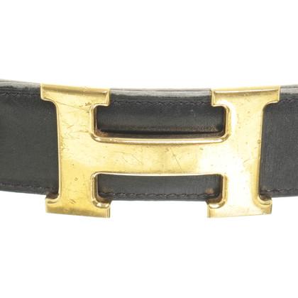 Hermès riem met logo gesp