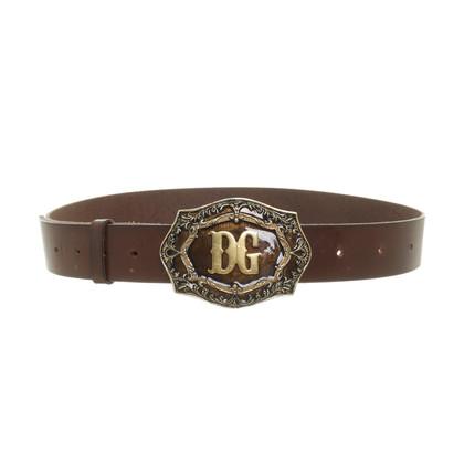 Dolce & Gabbana Cintura in pelle con fibbia logo