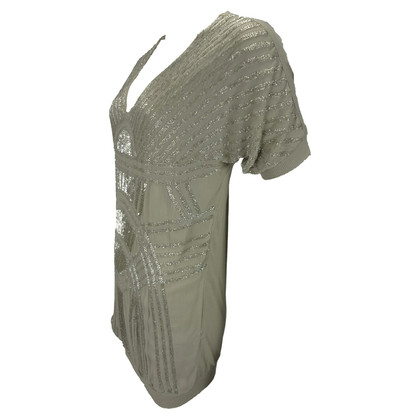 Other Designer Twin Set by Simona Barbieri - beaded dress operation taupe
