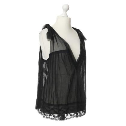 Philosophy di Alberta Ferretti Lace top with silk