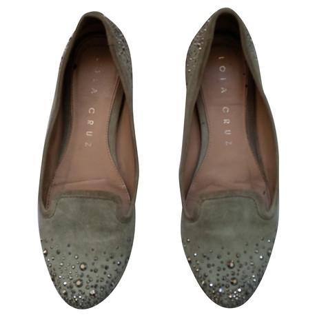 Andere Marke Lola Cruz - Mintgrüne Loafer mit grauen Kristallen Andere Farbe Eastbay Online Die Besten Preise Günstiger Preis I10iHCY