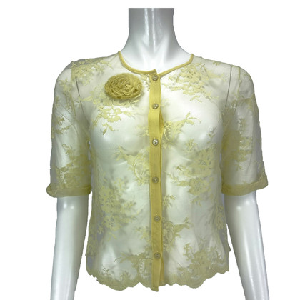 Other Designer Twin-Set Simona Barbieri - Light yellow lace jacket