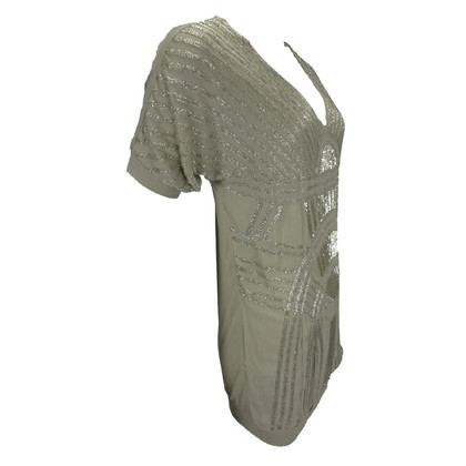 Other Designer Twin-Set by Simona Barbieri - Dress with beaded taupe
