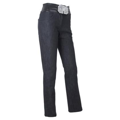 Valentino Jeans with rhinestone buckle
