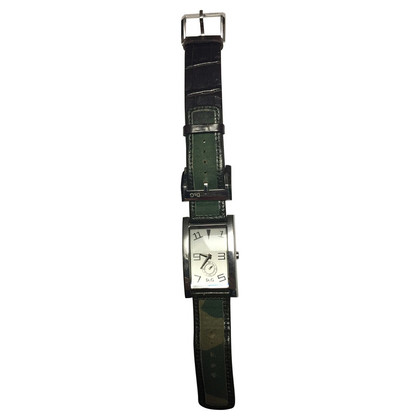 D&G Watch in dark green with Bordeaux