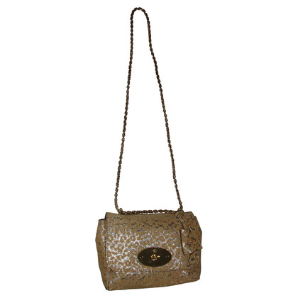Mulberry Regular gold Leopard print suede Lily