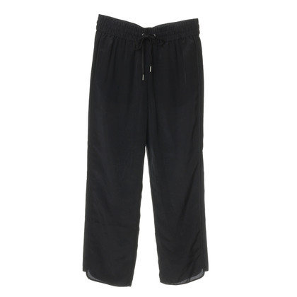 Marc by Marc Jacobs Black silk trousers