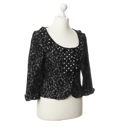 Moschino Cheap and Chic Black Blazer jacket with lace trim