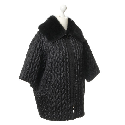 Strenesse Black jacket with fur collar