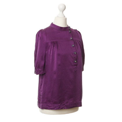 Marc by Marc Jacobs Seidenbluse in Violett