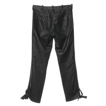 Christian Dior Lederen broek met gallon Strip
