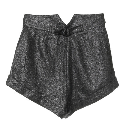Anna Sui Shorts with metallic yarn