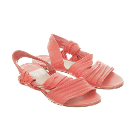 Furla Sandals in Raspberry Red