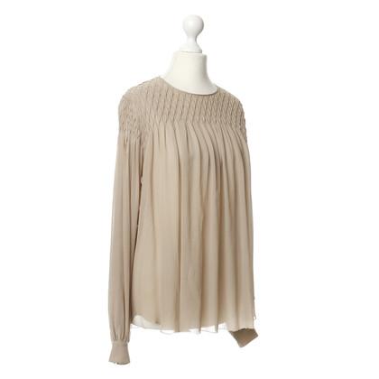 L'Agence Silk shirt in beige