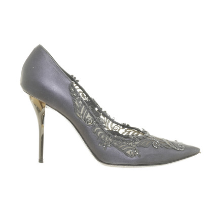 René Caovilla Pumps with ornamental jewelry stone trim
