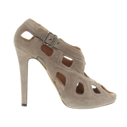Givenchy Brown peep-toes suede