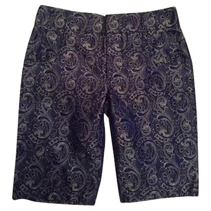 Balenciaga Shorts in seta con motivo