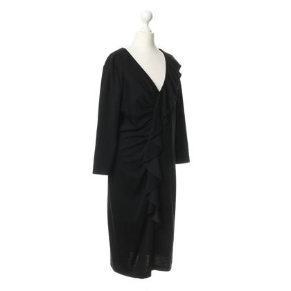 St. Emile Zwarte jurk met kant trim