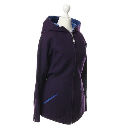 Mugler Violettfarbene Jacke aus Wolle