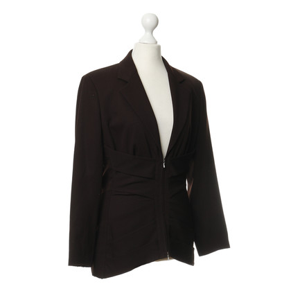Jean Paul Gaultier Brown Blazer met lace detail
