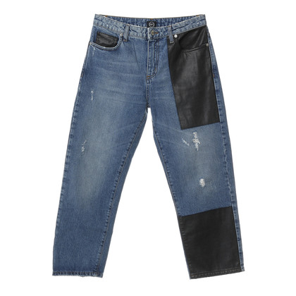 Alexander McQueen Jeans with leather patches