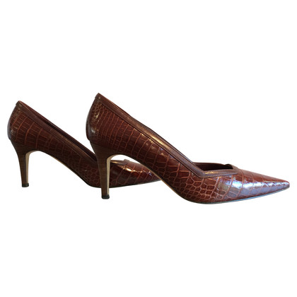 Manolo Blahnik Kroko Pumps