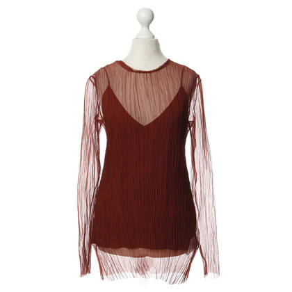 The Row Silk shirt in rust