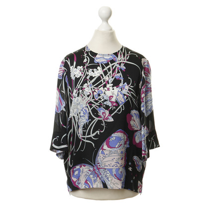 Emilio Pucci Silk top with floral print