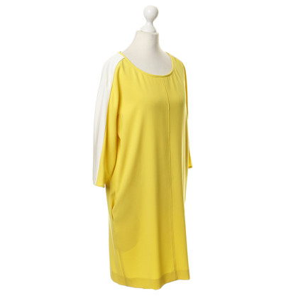 Marc Cain Dress in yellow and cream