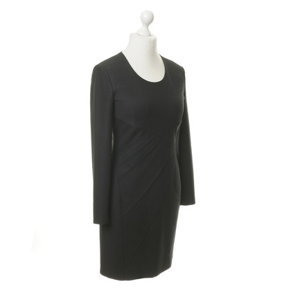 Strenesse Black long sleeve dress with pleats detail