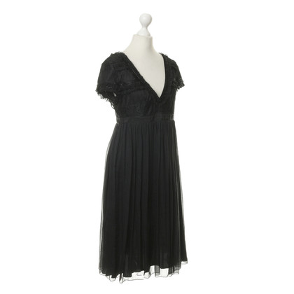 D&G Black dress with frills