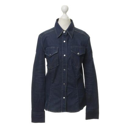 D&G Camicia di jeans in Blu Royal