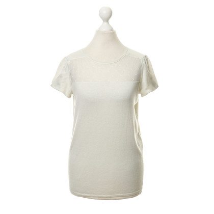 Maje Bright top with lace trim