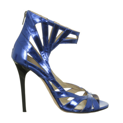 Jimmy Choo for H&M Sandali in blu metallizzato