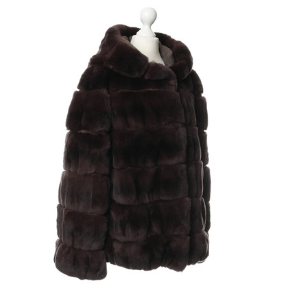 Yves Salomon Rabbit fur jacket
