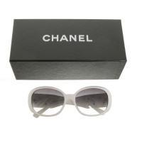 Chanel White sunglasses with flower detail