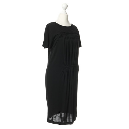 Rochas Black dress with pleats detail