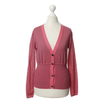 Miu Miu Striped Cardigan in pink