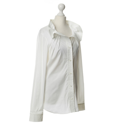 Red Valentino White blouse with creative collar