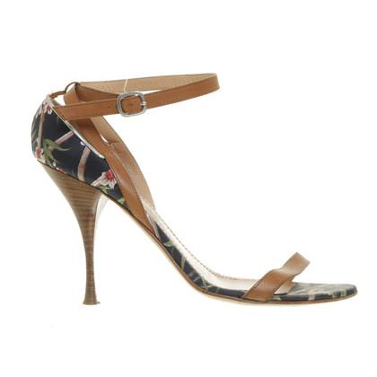 Casadei Strappy sandals with flower pattern