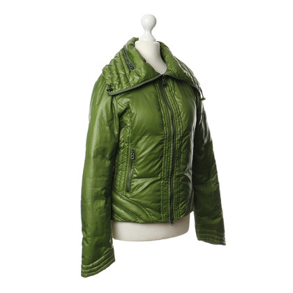 Armani Jeans Doorgestikte jack in het groen