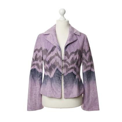 Just Cavalli Violettfarbene Blazer vest met patroon