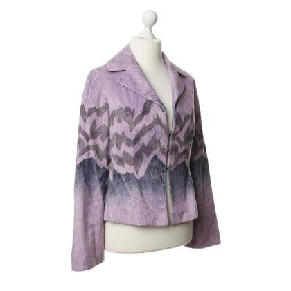 Just Cavalli Violettfarbene Blazer jacket with pattern